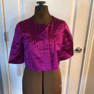 Theory magenta bolero jacket, size P